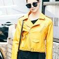 [XITAO] outono NOVA vento moda estilo Europeu cor sólida comprimento regular emagrecimento forma poli uretano MFB-012 jaqueta feminina
