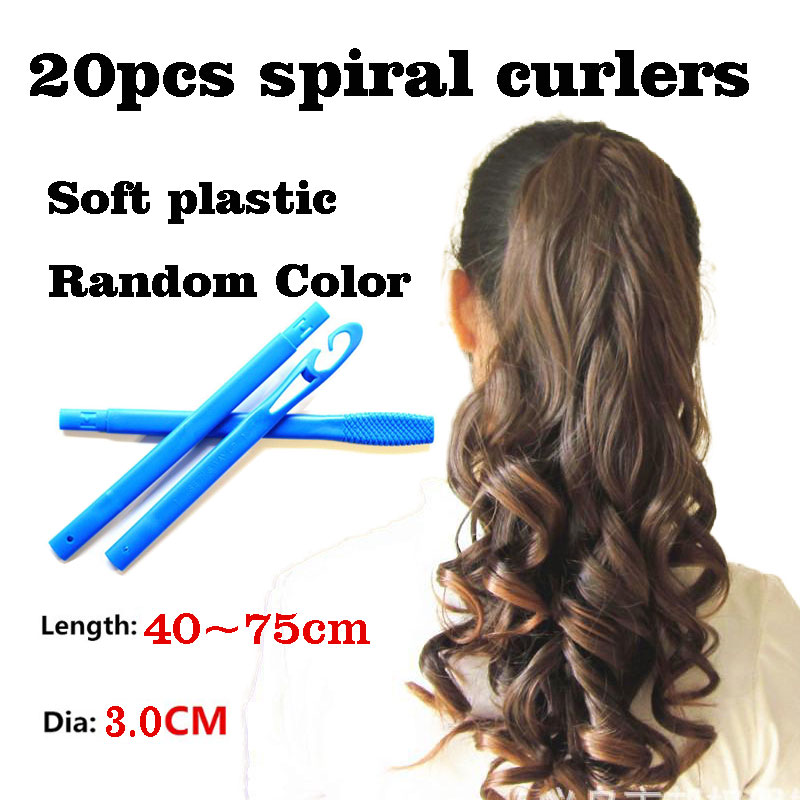 20pcs/Set Easy To Use 20 Root 20-75cm Magic Long Hair Curlers Not Hurting Hair Curl Formers Ringlets Curler Hair Styling Tools K