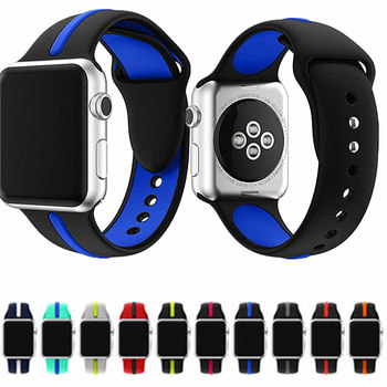 ASHEI Sport Silicone Band For Apple Watch 42mm 38mm iWatch Series 3 2 1 Strap With Stripe Color Splicing For Apple Watch Bands 3