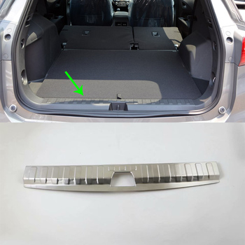 Hotsale Car Accessories Interior Foot Mat Stainless Steel Rear Inner Bumper Protector Plate Cover For Chevrolet Equinox 2017