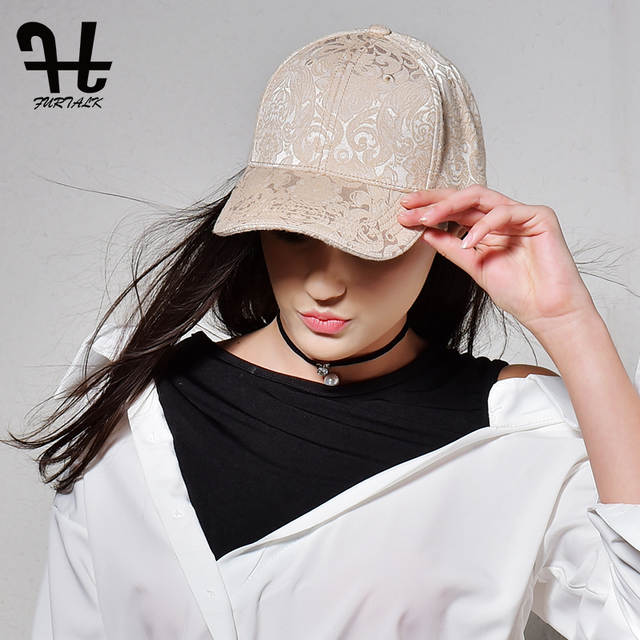 a0f37eed5ff Online Shop FURTALK Women New Spring Autumn Women Snapback Baseball Cap for  Women Fashion Lace Cap Hip Pop Hat Printing Hat
