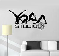2016 New Vinyl Decal Yoga Studio Poses Word Buddhism Meditation Wall Stickers Free Shipping