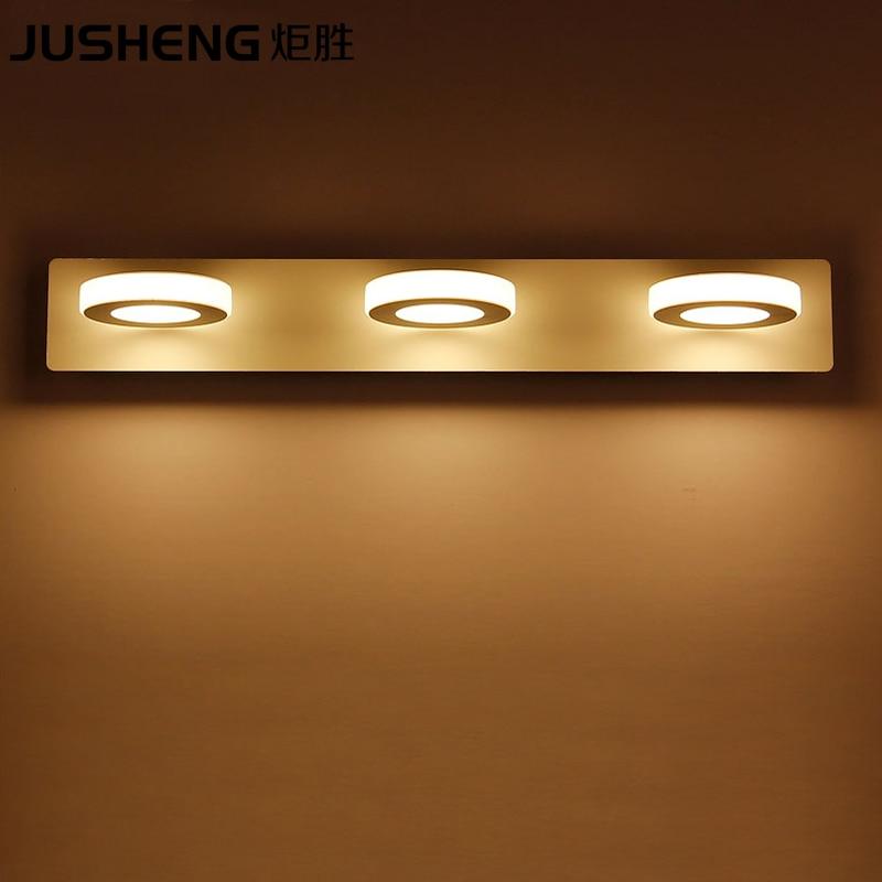 ФОТО 2017 New 9W Bathroom Mirror Light 48cm White Acrylic LED Wall Lighting Warm White/Cool White Indoor Wall Lamps AC220V/110V