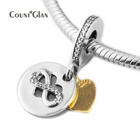 Fits Bracelet Charms Autumn Beads for Jewelry Making Heart of Infinity Dangle Charm Genuine 925 Sterling Silver Beads Not Plated