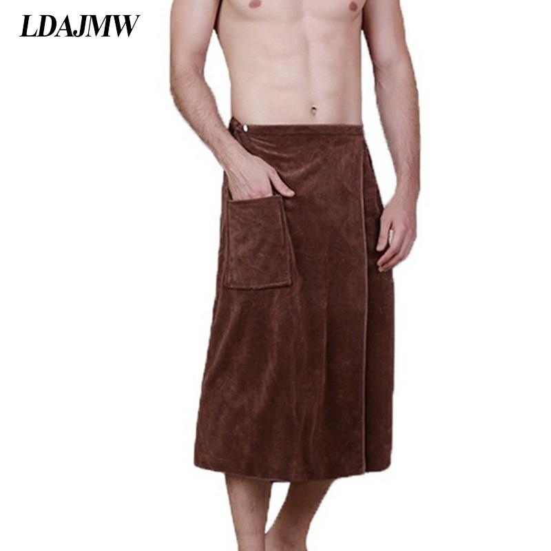 LDAJMW Men Wear Cotton Towel Adult Male Super Absorbent Towel Home Furnishing Personality Summer Beach Towel Large Bath Towel