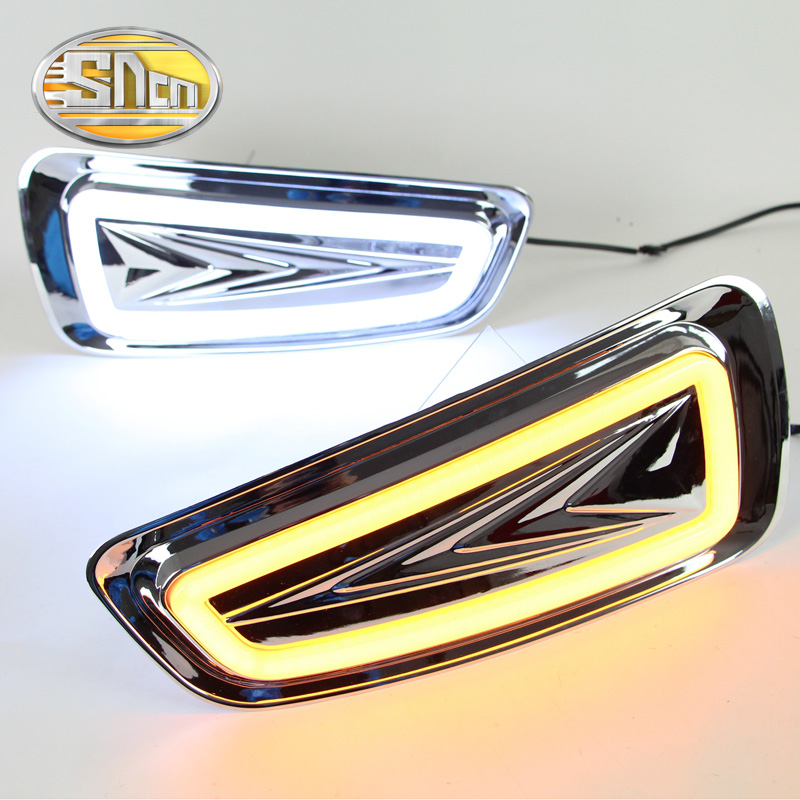 SNCN LED Daytime Running Light For Ford F-150 SVT Raptor 2010 - 2014,Car Accessories Waterproof ABS 12V DRL Fog Lamp Decoration hireno super bright led daytime running light for ford raptor f150 f 150 2010 2011 2012 2013 2014 car led drl fog lamp 2pcs