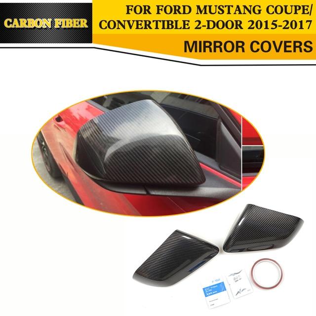 Carbon Fiber Car Styling Hinten Überprüfung Spiegel Abdeckung Kappen Für Ford Mustang Coupe Cabrio 2-Tür 2015-2017 (nicht blinker)