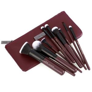 Image 2 - Jessup borstels 10pcs Plum/Zwarte Make Up kwasten set beauty Make up borstel Concealer & 1PC Cosmetische tas vrouwen