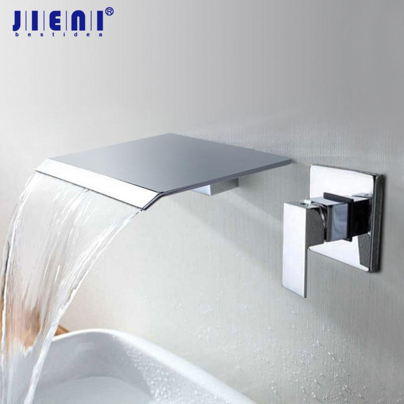 Waterfall Shower Head Wall Mount Panel Mixer Bathtub Wall Mounted Message Shower Set With Hand Shower Bathroom Shower Sets