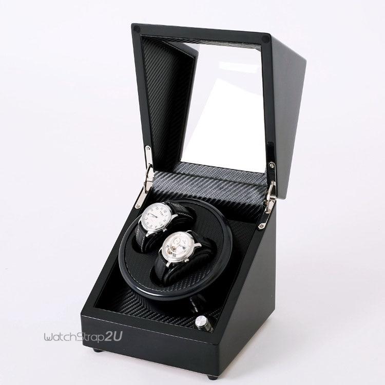 2 + 0 Uhr Wickler Automatische Rotation Uhr Lagerung Vitrine Box Slient Motor Armbanduhr Boxen