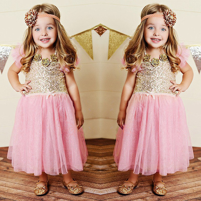 656ea82c7ae Girls Christmas Dress Summer Kids Clothes Sequin Petal Sleeve Party Cotton  Lace Baby Girls Dresses Toddler Girl Clothing