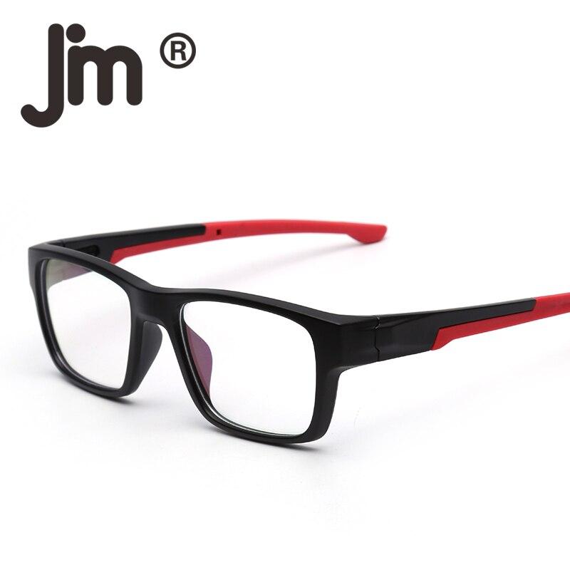 c4009cee34 JM Rectangular Non-prescription Glasses Frame with Rubber Tips Classic Rx-able  Eyeglasses for Men Women