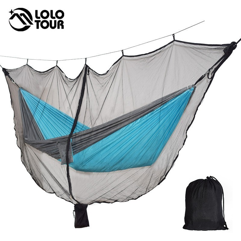 Hammock Bug Net Ultralight Mosquito Net Outdoor Camping Survival Hammocks Netting 340*140CM 0.88 LBS Fast Easy Setup