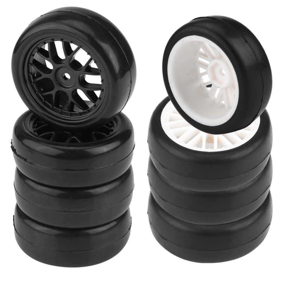 4 шт. 1/10 RC ступицы колеса аксессуары для радиоуправления дрейф обод колеса с шиной для Traxxas для HSP для Tamiya для HPI 1:10 гоночный автомобиль