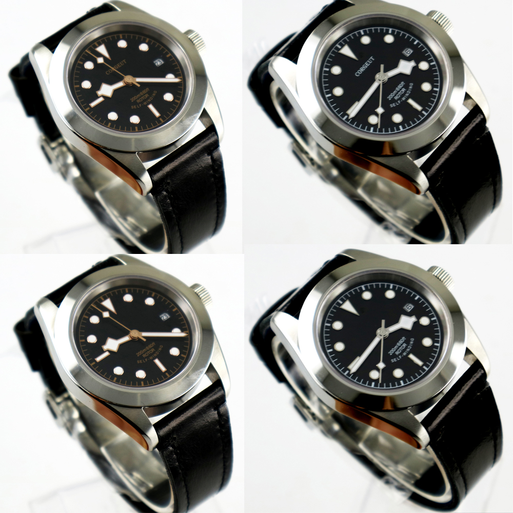 41mm Corgeut black dial 2017 top brand Luxury Newest Hot sapphire glass miyota automatic movement Men