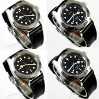 41mm Corgeut siyah dial 2017 üst marka Lüks Yeni Sıcak safir cam miyota otomatik hareketi erkek saati