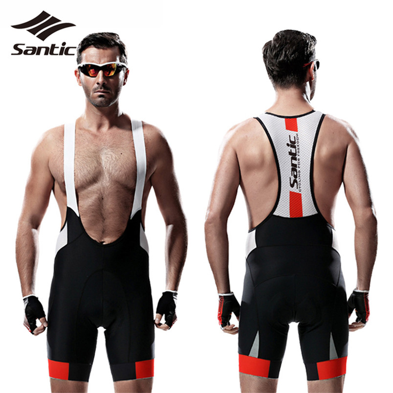 Santic Men Cycling Shorts 4D Coolmax Padded Sport Fitness Bicycle Shorts Quick Dry Cycling Clothing Road Mountain Bike Shorts