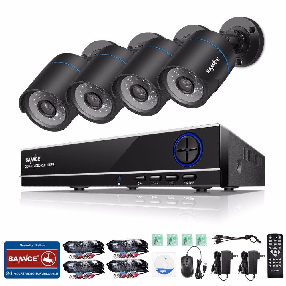 imágenes para SANNCE Sistema 1080 P HDMI de Salida HD 720 P CCTV 8CH CCTV DVR 4 unids 720 P 1200TVL Cámaras de Seguridad kit de Vigilancia de la Leva a prueba de agua