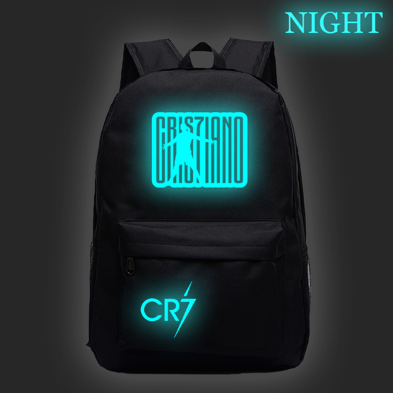 Girls Bags Schoolbag Daily-Backpack CR7 Cristiano Ronaldo Teens Boys Kids Students Fashion