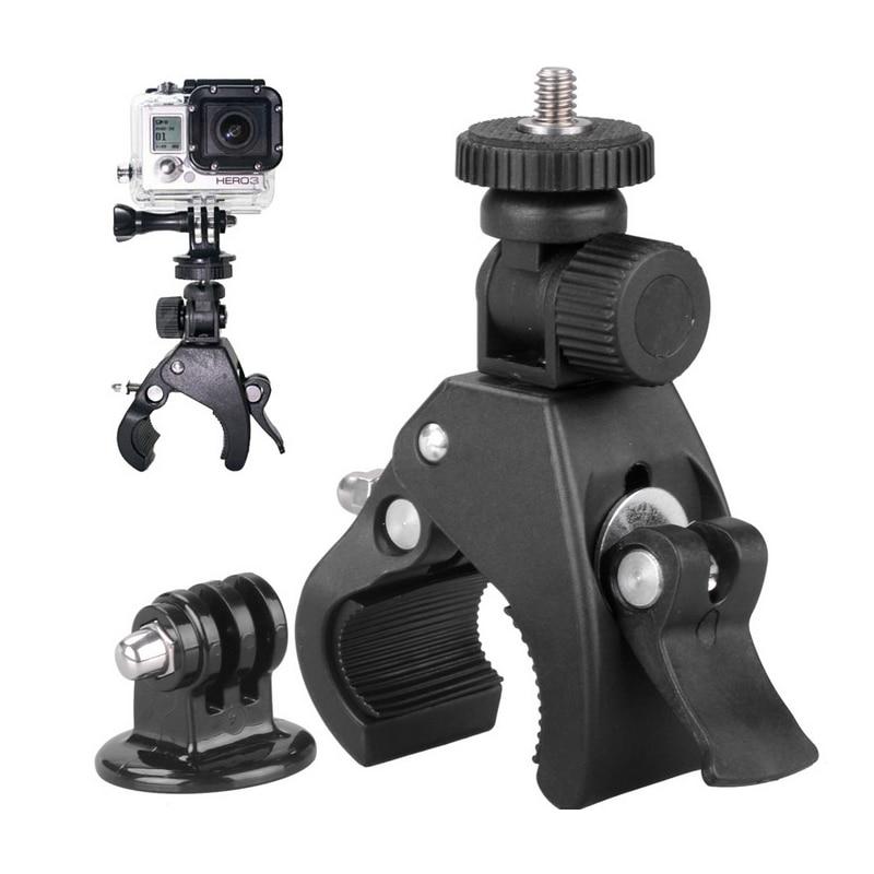 Galleria fotografica for GoPro mounting accessories motorcycle bike handlebar + camera tripod adapter for Go Pro Hero5/4 / 3 Go Pro sj4000