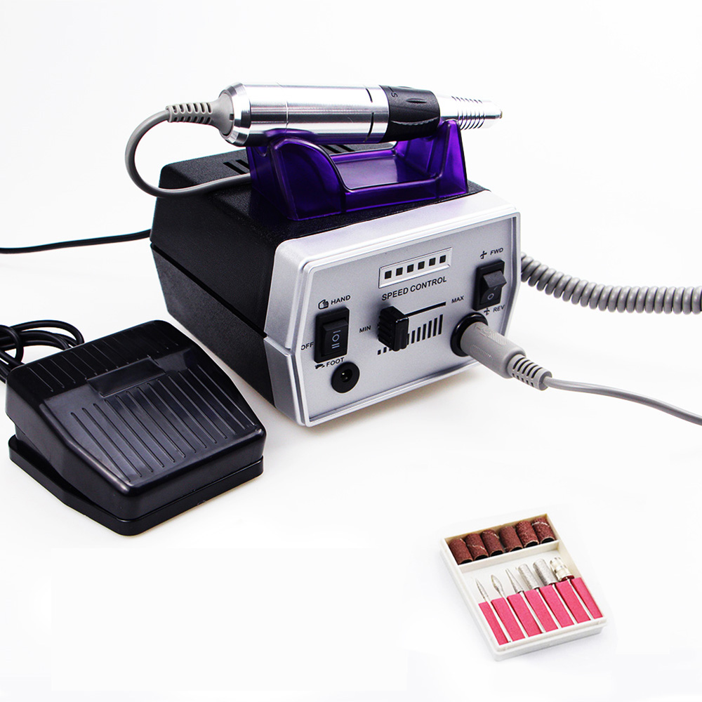 Electric Nail Drill Machine 35000rpm Profession Manicure Pedicure Machine Milling Cutter Accessories Nail File Manicure Tool Kit