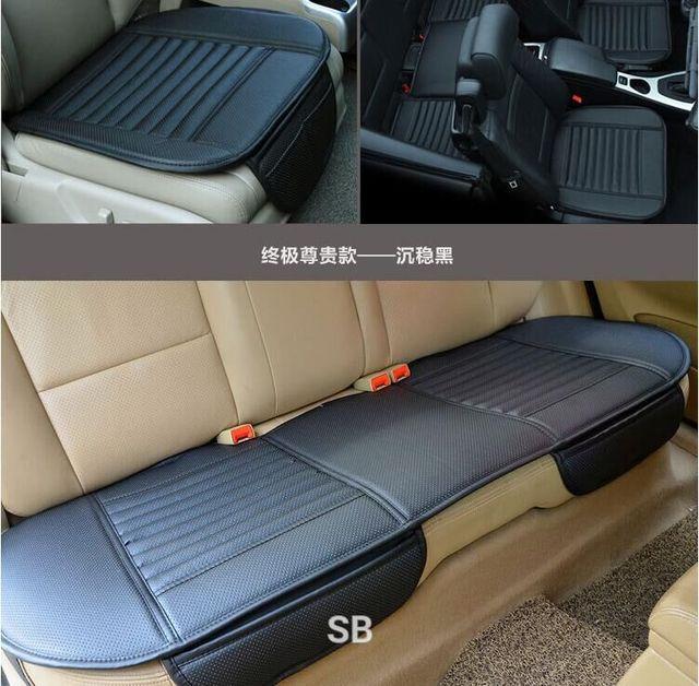 Tampa de assento do carro do inverno almofada do assento de carro assento auto móvel, carvão de bambu assento de carro de couro Nobre forro calcinha