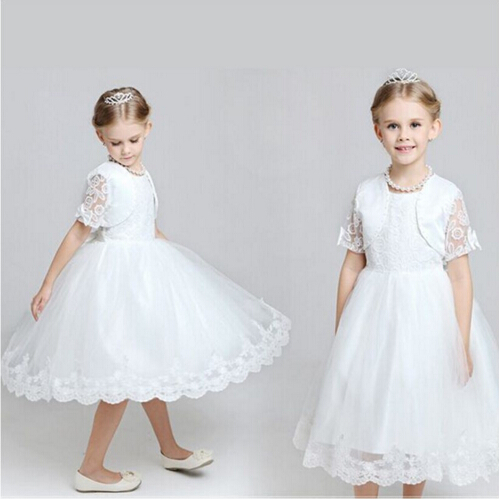 fashionable girl baby shower dress for girls princess dress twopiece with children jacket