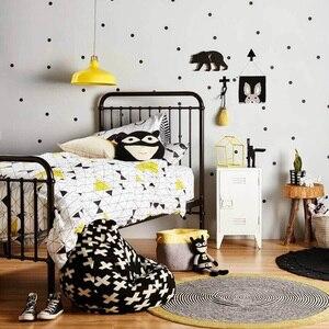 Наклейки на стену в черный горошек для детской комнаты, наклейки для детской комнаты, домашний декор, настенные Стикеры для детской комнаты, украшение для дома