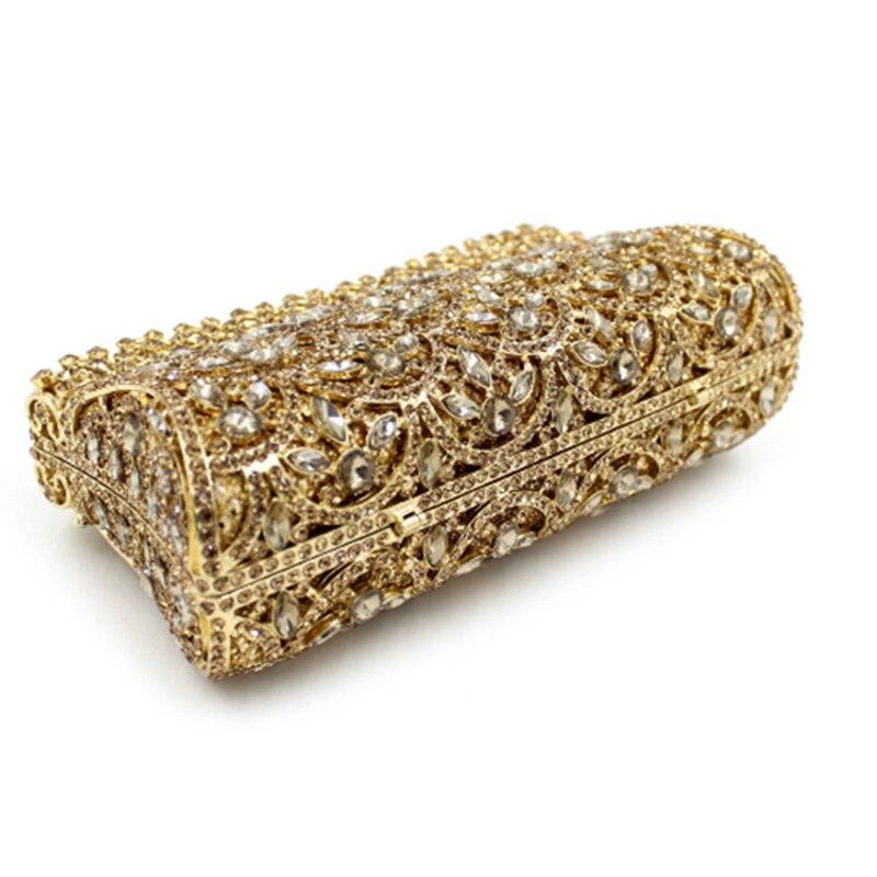 Soirée Sacs Luxe Sac Partie Main À Banquet En De Femelle D'embrayage Embrayages Dames Dîner Gold Bourse Xiyuan Cristal Mode Or Diamants ZX5xYY