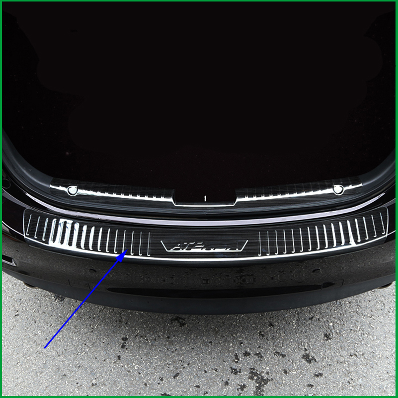 For Mazda 6 M6 Atenza 2017 2018 Stainless Steel Rear Bumper Protector Sill Trunk Rear guard plate Cover Sticker Trim car styling