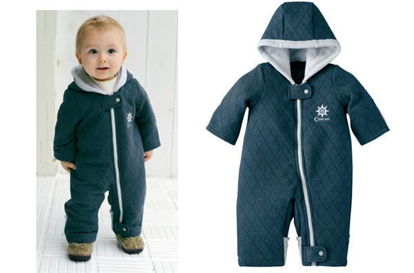 Free shipping new autumn winter baby boys girls thicken cotton-padded clothes casual fashion kids outwear rompers hot sale!