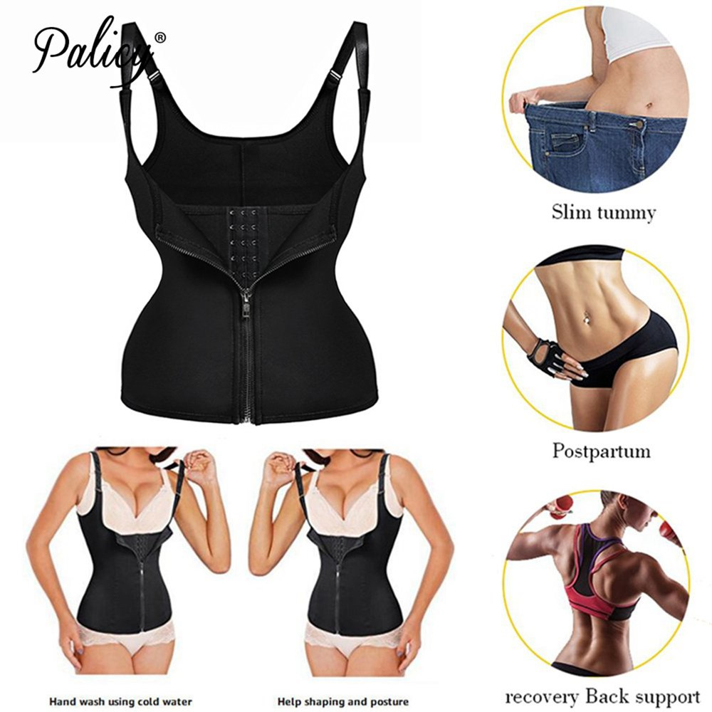 Neoprene Sauna Vest Body Shaper Slim Waist Trainer Fashion Fajas Girdle Workout Shapewear Adjustable Sweat Belt Corset Plus Size 1