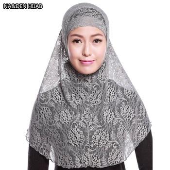 Hot sale Muslim Hijab Islamic Turban Women Embroidery Ninja Underscarf Cap Instant Head Scarf Full Cover Inner Coverings 10pcs