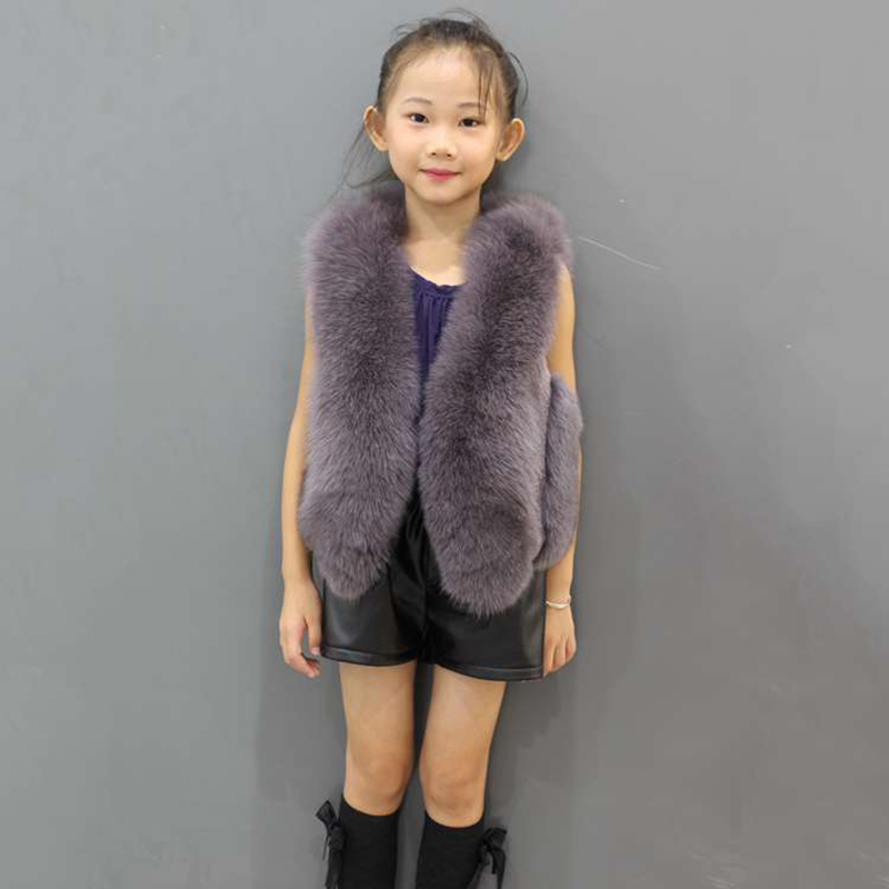 JKP 2018 winter baby girls fur vest children fox fur vest family fitted real fox fur vest girls and boy coat Outerwear ZPC-159 2018 autumn and winter new children s fur throwing cap vest stitching vest coat vest cotton suit parent child waistcoat zpc 215