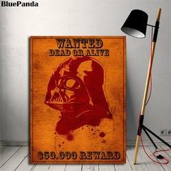 Западный Дарт Вейдер живопись Звездные войны винтажные плакаты и принты декоративная настенная наклейка картинки для гостиной домашний