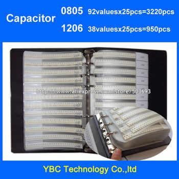 Free Shipping 0805 SMD Capacitor 92valuesX25pcs=3220pcs +1206 38valuesX25pcs=950pcs Sample Book - DISCOUNT ITEM  20% OFF All Category