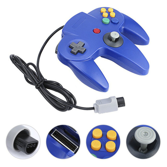Wired Gamepad Handle Game Controller Pad Joystick for Nintendo System For Nintendo For Gamecube N64 64 PC Mac
