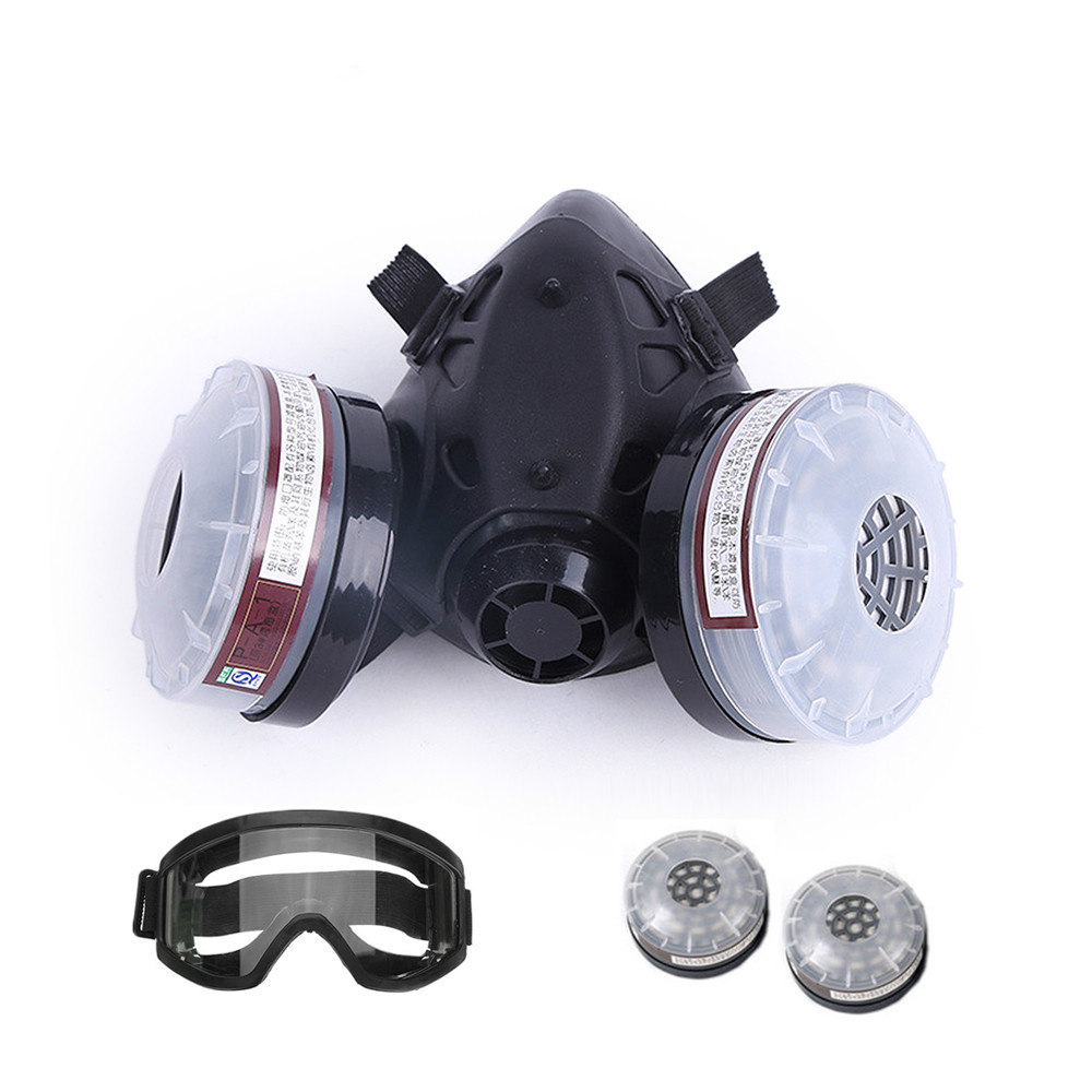 Anti-Dust Gas Mask Chemical Industrial Painting Spraying Pesticides RespiratorFilter Dust Half Face Mask Replace