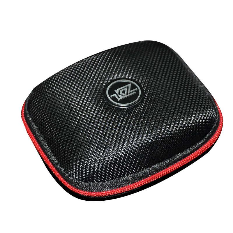 KZ Case torba w ucho słuchawki Box słuchawki przenośne trzymać schowek akcesoria do słuchawek schowek na słuchawki torba dla AS10 ZS10 ZSN