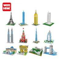 Wisehawk Nano Blocks World Architecture Leaning Twin Towers London Bridge Plastic Building Model Brick Diy Educational