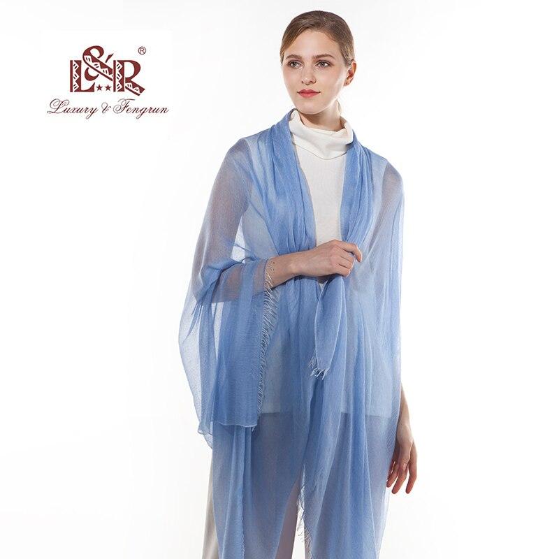 2018 Luxury Brand Women Silk Scarf Foulard Modal Chiffon Hijab Kvinna - Kläder tillbehör - Foto 6