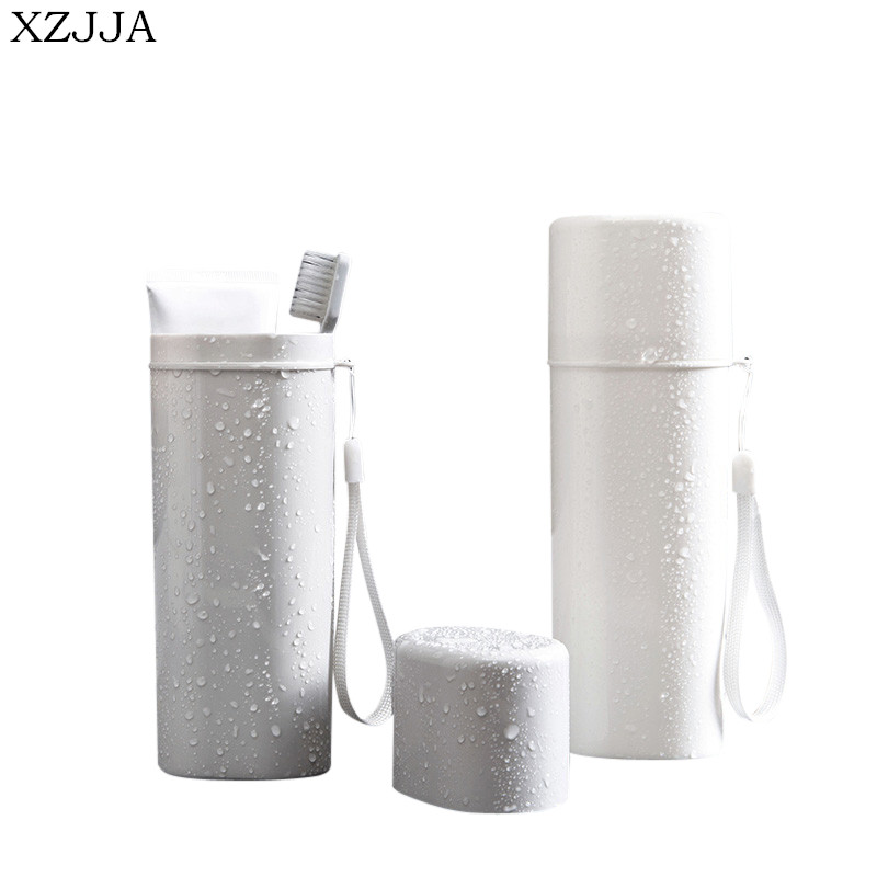 XZJJA Japanese-style Portable Tooth Brush Storage Box Travel Toothbrush Organizer Tableware Fork Spoons Protect Container