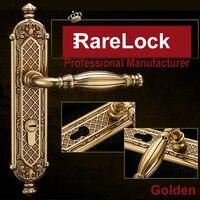 Rarelock Рождество поставки роскошный замок двери ручка Замки для Спальня Аксессуары для ванной охранных DIY