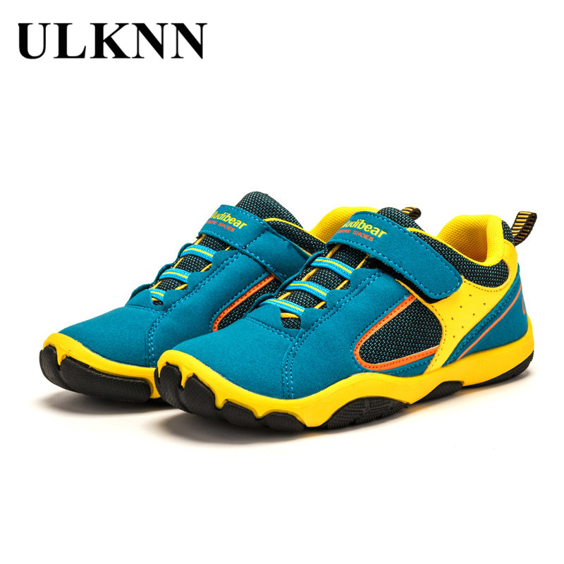 2017 Hot sale boys girls sports shoes skid resistance rubber sole kids walking shoes Spring Autumn children's fashion sneakers