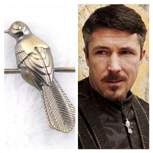 A Song of Ice and Fire Game of Thrones Petyr Baelish silvery Mockingbird badge Brooches men lapel pin women dress pin wholesale