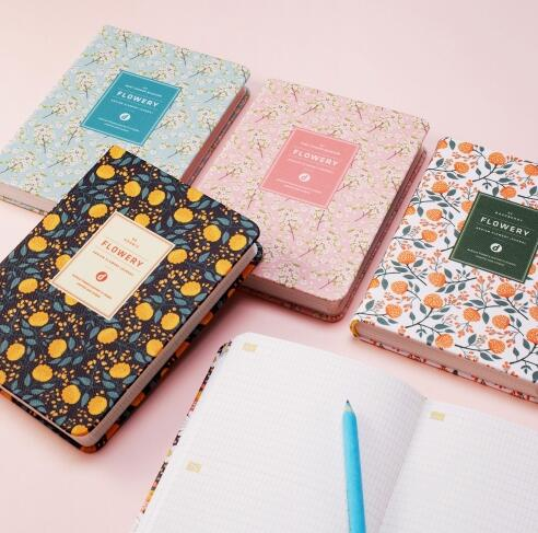 kawaii floral pu leather softcover daily planner 2016 flower daily