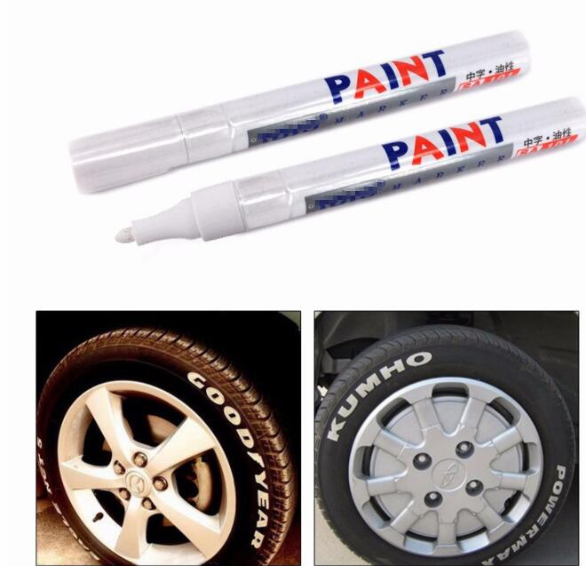 Box of 10 White Paint Markers Multi Surface Permanent Marker Pen Tyre Card etc