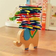 Детские деревянные строительные блоки баланс верблюд, слон игрушка для детей Девочка дерево Монтессори игрушки укладки интерактивные Балансировки Игры