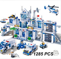 Extra Large Police Station 1285 Pcs Blocks Compatible With Lego City Educational Toys For Kids Toys