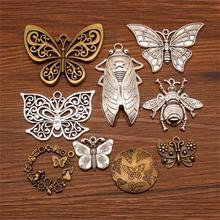 3 Piece butterfly decoration Mix Charms For Jewelry Making Diy Craft Supplies wings women bee jewelry